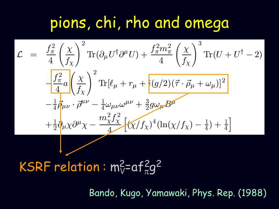 pions, chi, rho and omega 2 KSRF relation : mV=afpg2