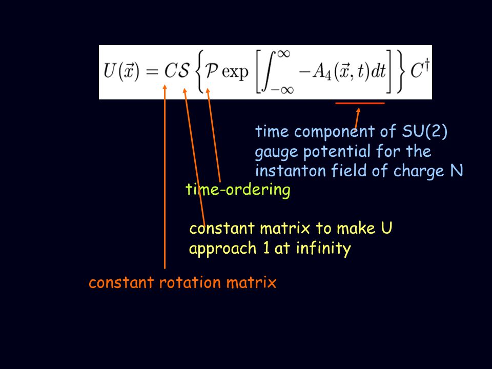 time component of SU(2) gauge potential for the instanton field of charge N