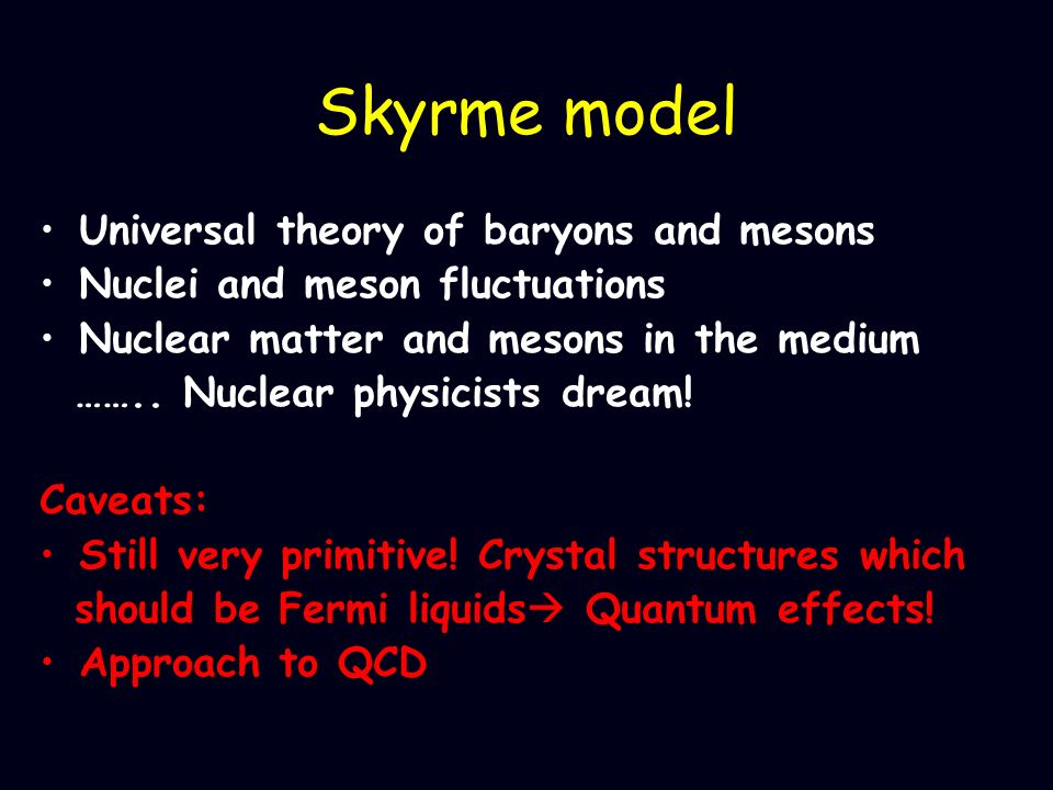 Skyrme model Universal theory of baryons and mesons