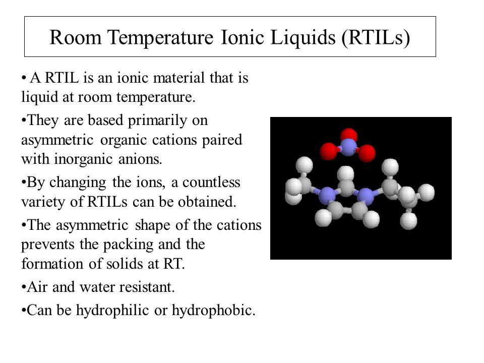 Room Temperature Ionic Liquids Ppt