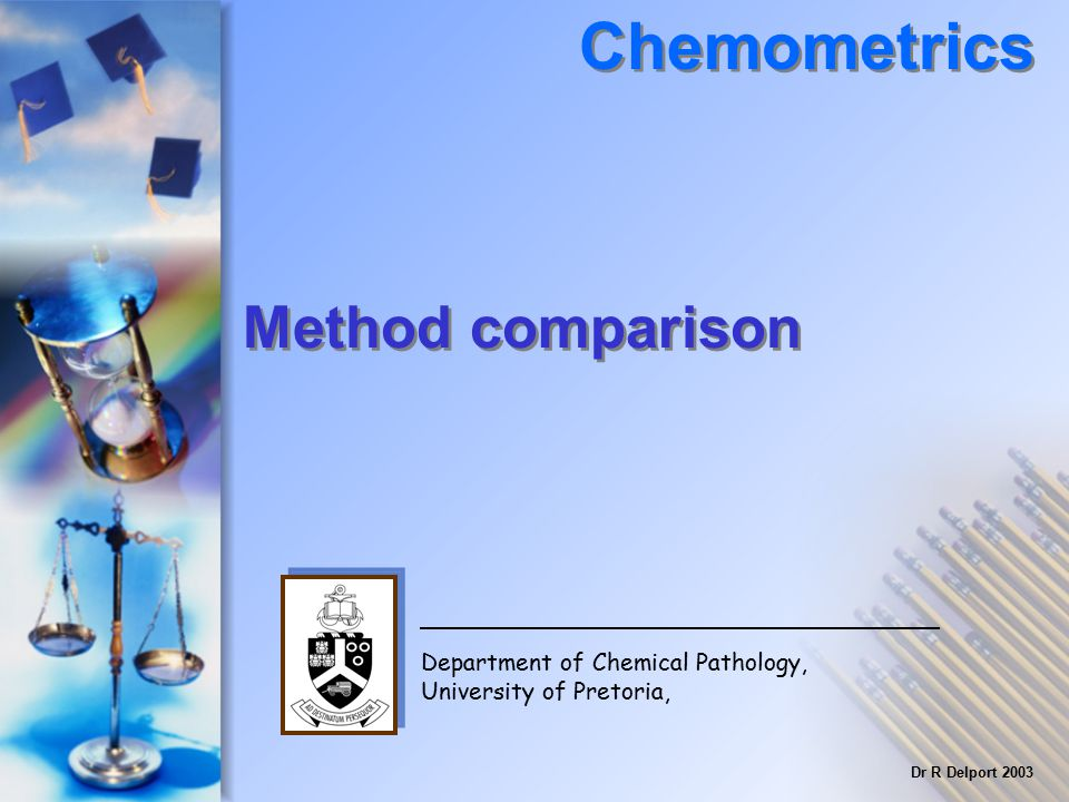 Chemometrics Method comparison