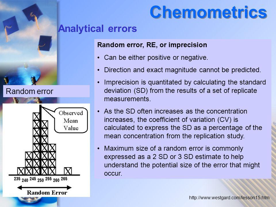 Chemometrics Analytical errors Random error