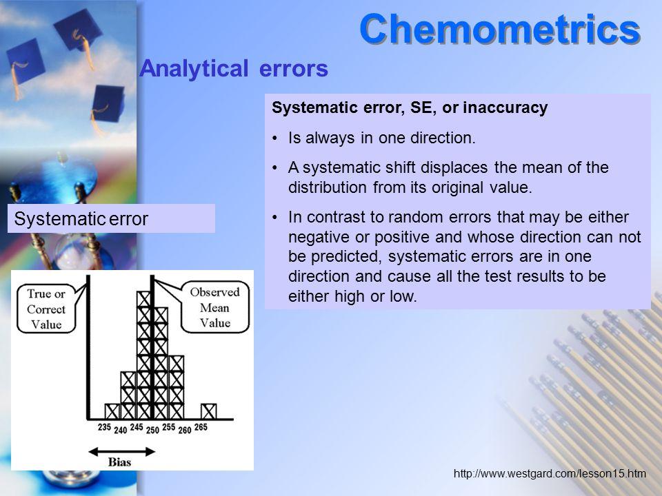 Chemometrics Analytical errors Systematic error
