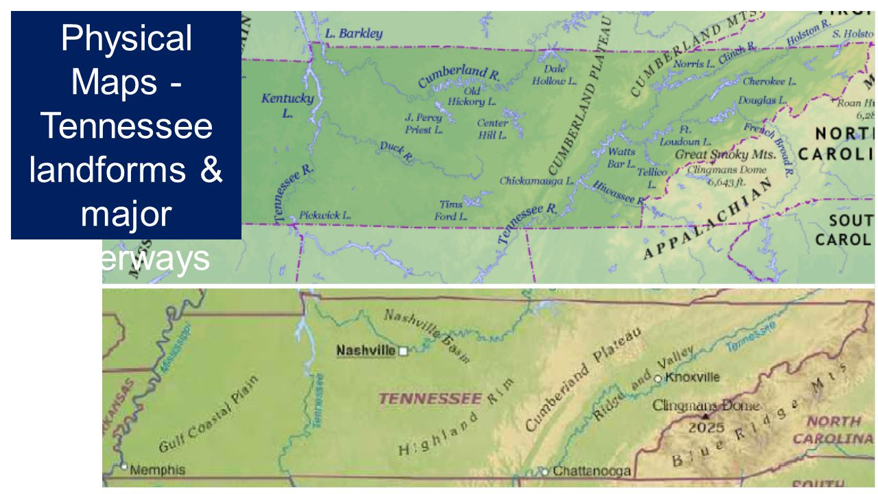 Chapter Lesson Studying Geography Ppt Download - Tennessee waterways map