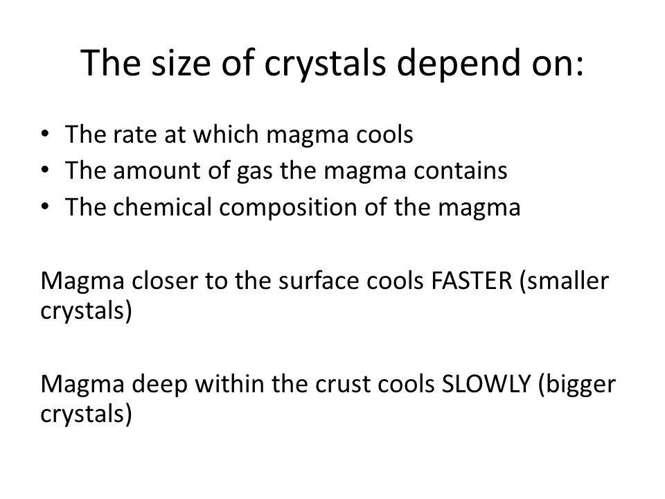 Mineral Formation 6th Grade. - ppt download