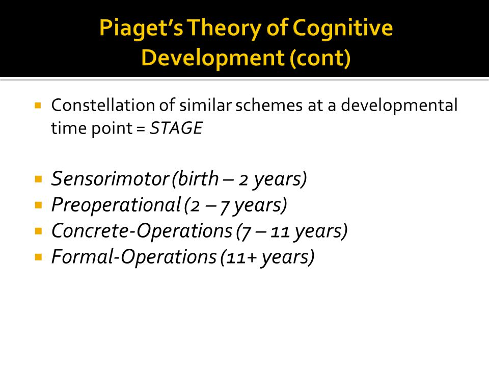 premises of cognitive development theory psychology essay Educational psychology: cognitive development some applications of cognitive development theories are discussed in relation to moral development and and essay.