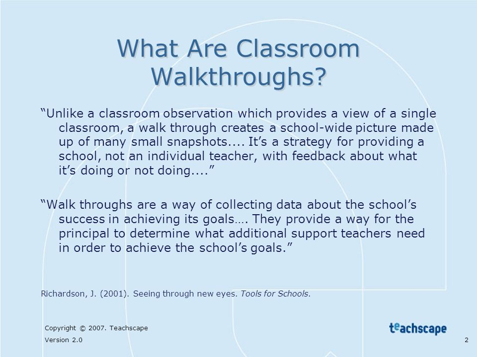 What Are Classroom Walkthroughs