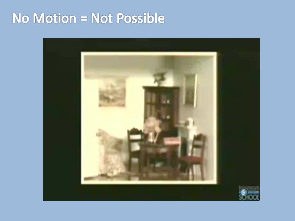No Motion = Not Possible