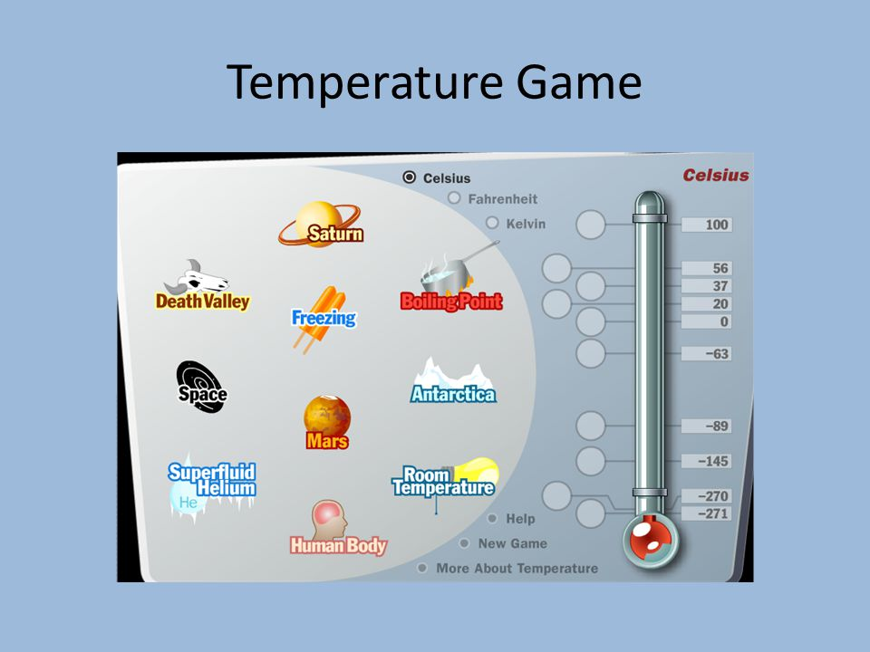 Temperature Game
