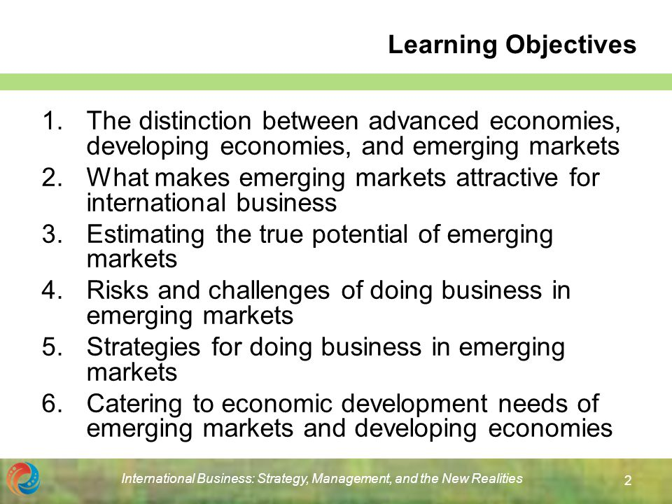 Mnes from emerging markets and developing