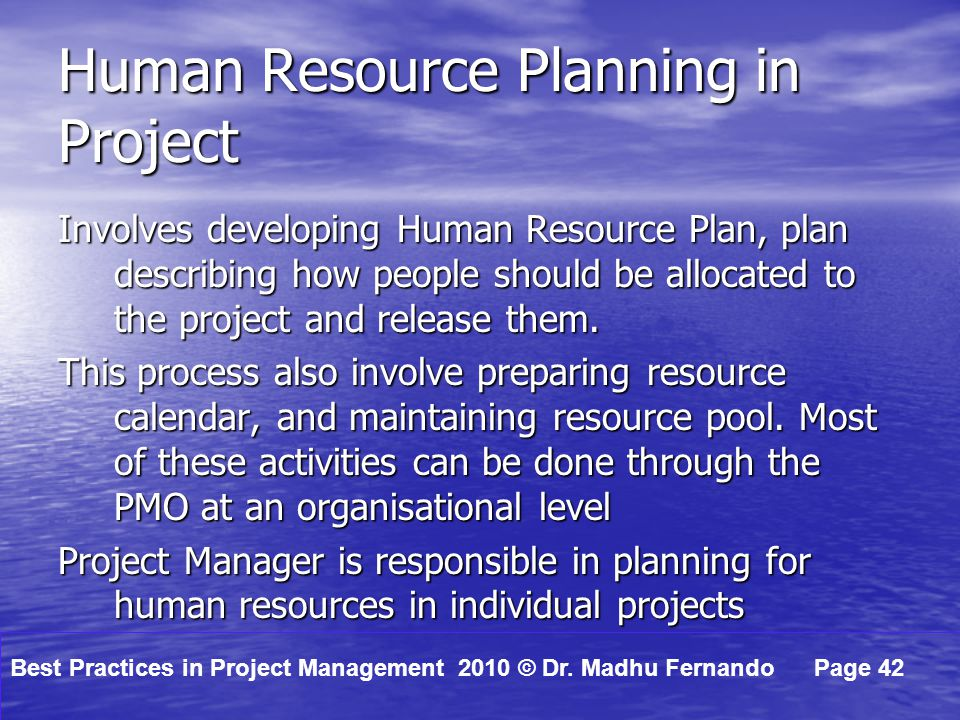human resource individual project The lse master's in human resources and organisations (hro) is a top ranking   issues which organisations face today in managing individuals and workforces   and past projects have worked with a broad range of clients such as hsbc,.