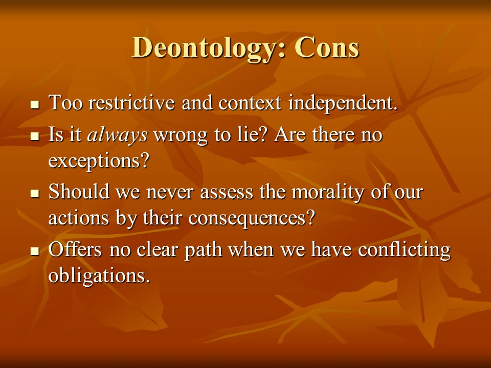 deontology vs utilitarianism in nursing 1 utilitarianism versus kant case three: confidentiality by linda s neff 1 introduction have you ever watched a group debate an ethical decision given a.
