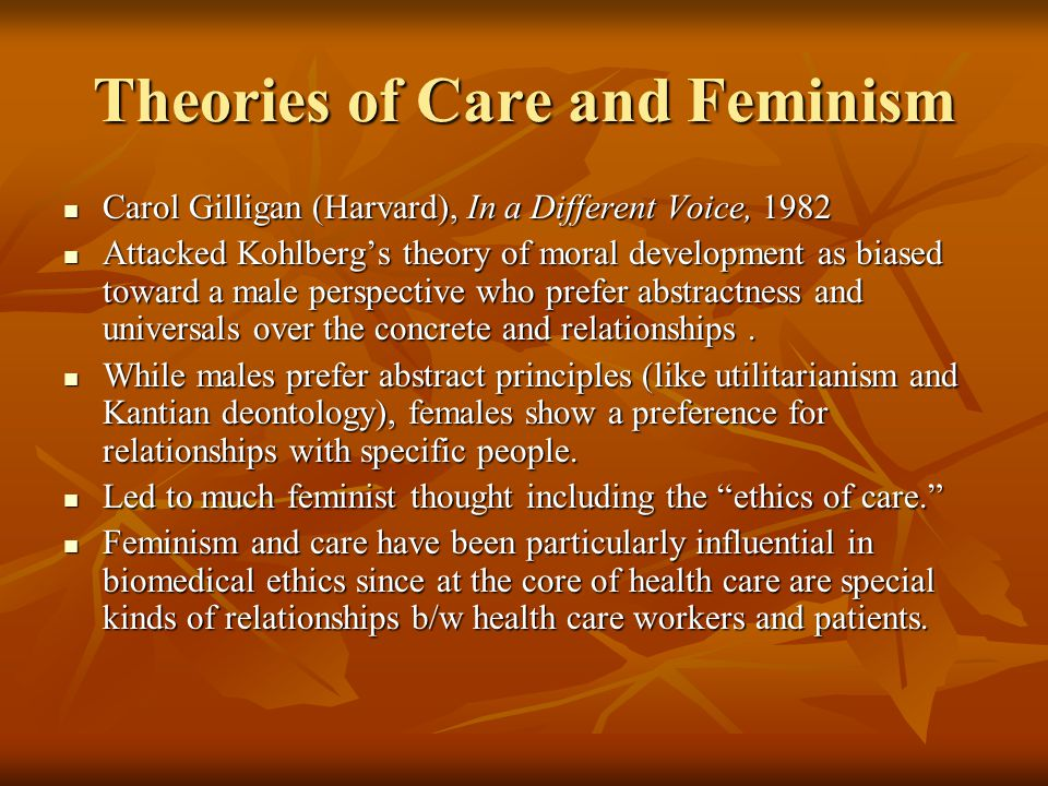 feminism deontology Two dogmas of deontology: aggregation, rights, and the  the  organization has been criticized by feminist groups in the us,.