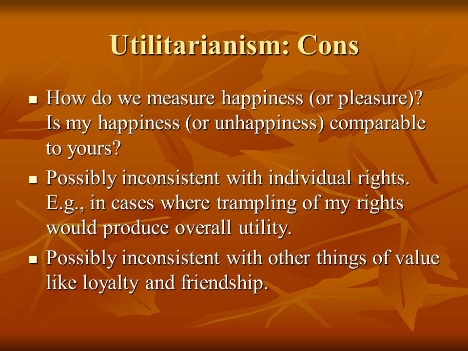 act utilitarianism 3 essay A plausible formulation of rule-utilitarianism would thus have it recommend the same actions as act-utilitarianism the two kinds are extensionally equivalent and the only stable rule available to the rule-utilitarian is the act-utilitarian one, eg to maximise the benefit of your actions.