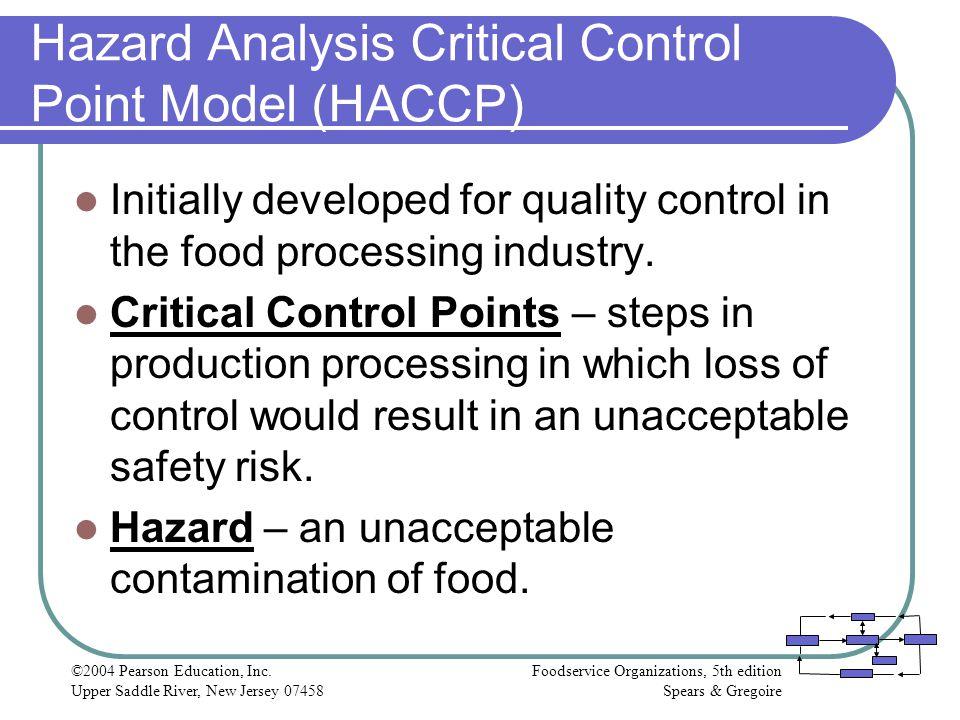 Haccp Food Safety Plan Unacceptable Health Risk