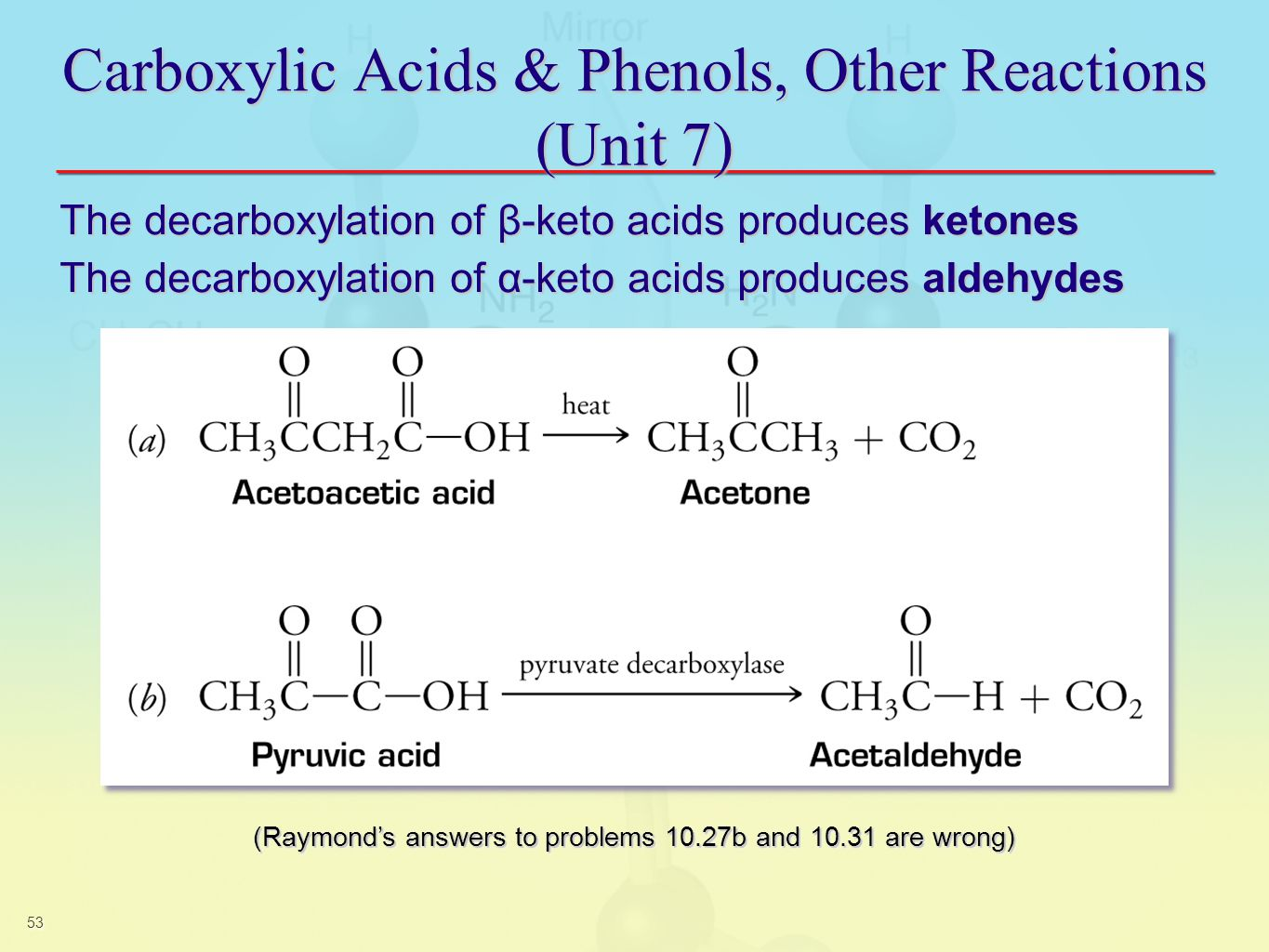 carboxylic acids Aromatic carboxylic acids benzoic acid, the sodium salt of benzoic acid is used as a food preservative , salicylic acid – a beta hydroxy type found in many skin care products dicarboxylic acids containing two carboxyl groups examples adipic acid the monomer used to produce nylon and.