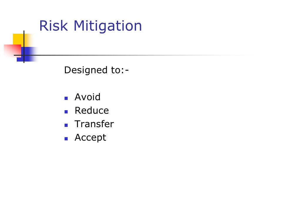 A comparison of avoiding risks and accepting risks