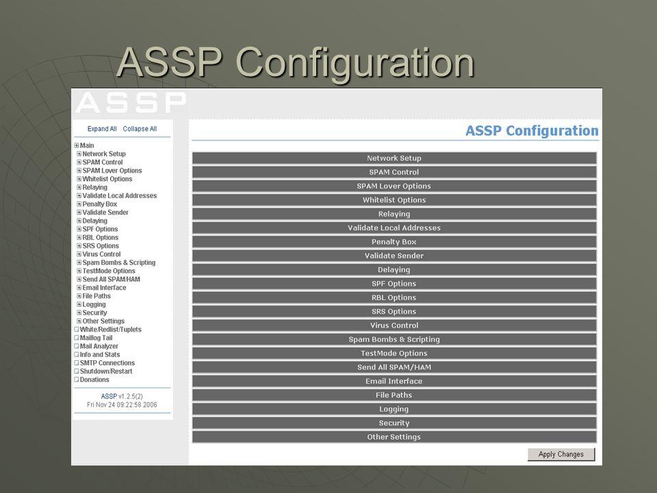 ASSP Configuration