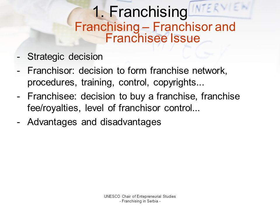 franchisor and franchisee relationship issues dating