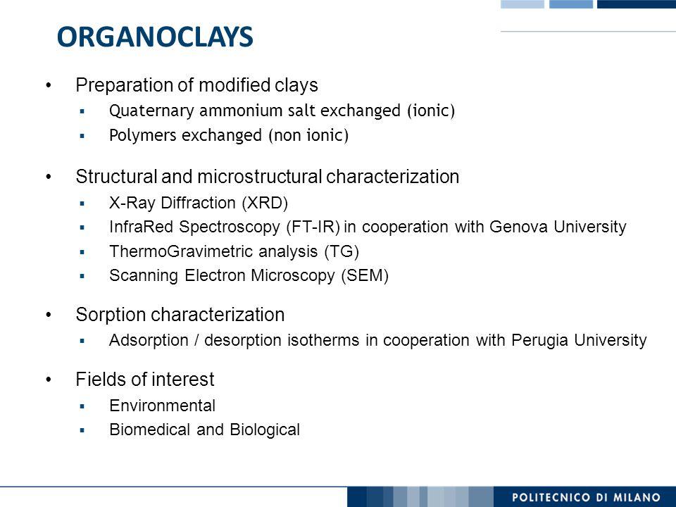 ORGANOCLAYS Preparation of modified clays