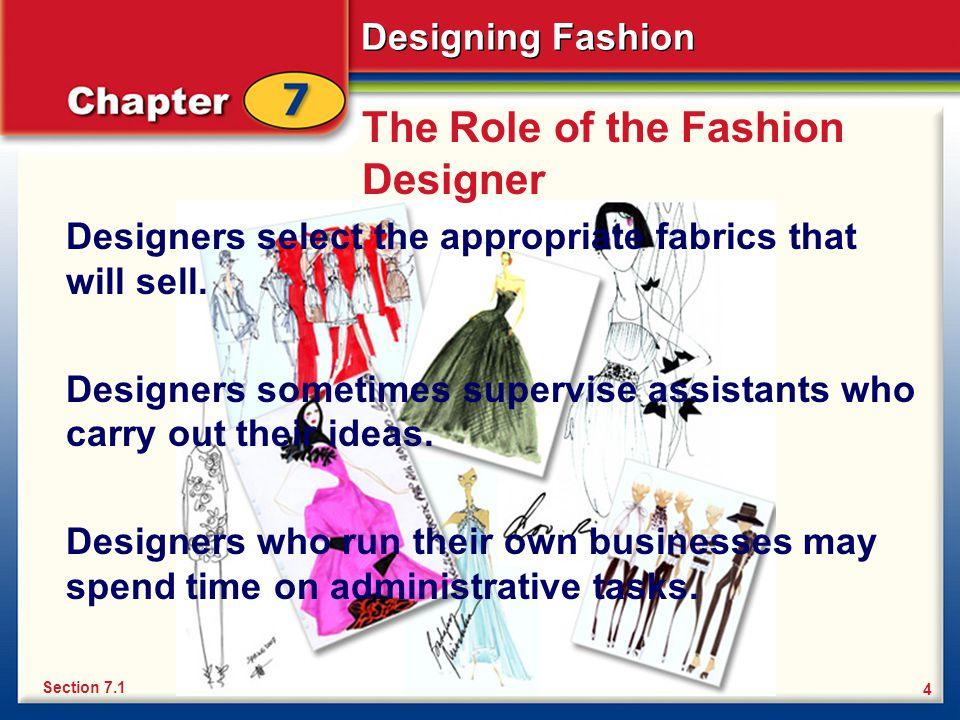 Explain The Role Of A Fashion Designer