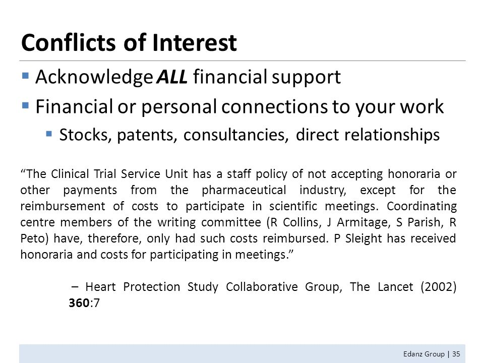 conflict of interest essay