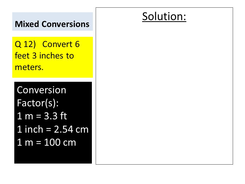 inches to meters conversion