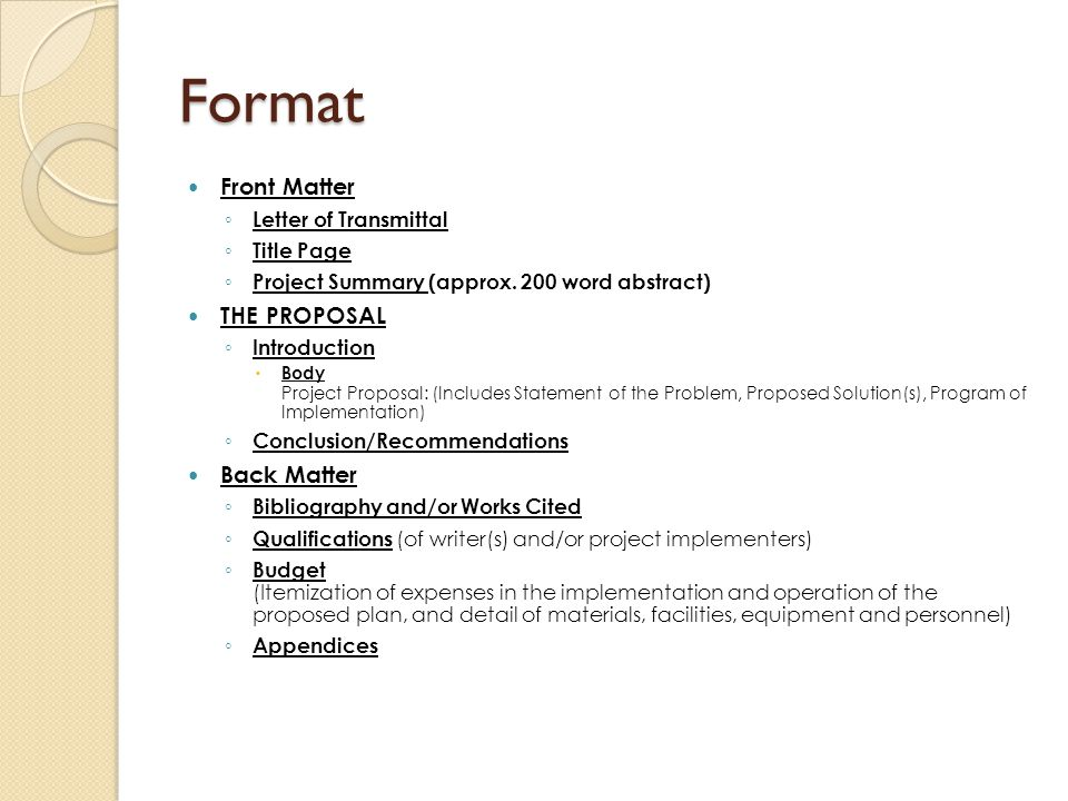 Writing Proposals Nayda G Santiago PhD PE ppt download – Letter of Transmittal for Proposal