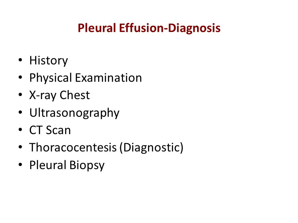 Pleural Effusion-Diagnosis