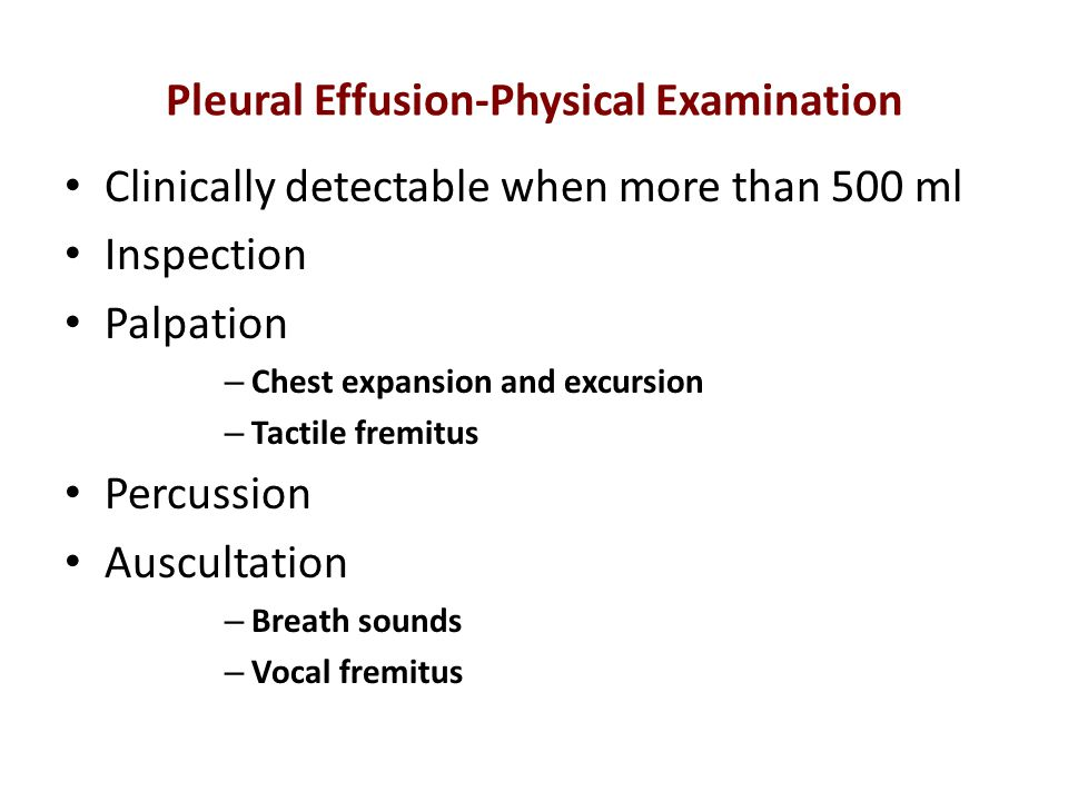 Pleural Effusion-Physical Examination