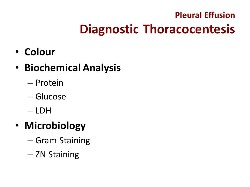 Pleural Effusion Diagnostic Thoracocentesis