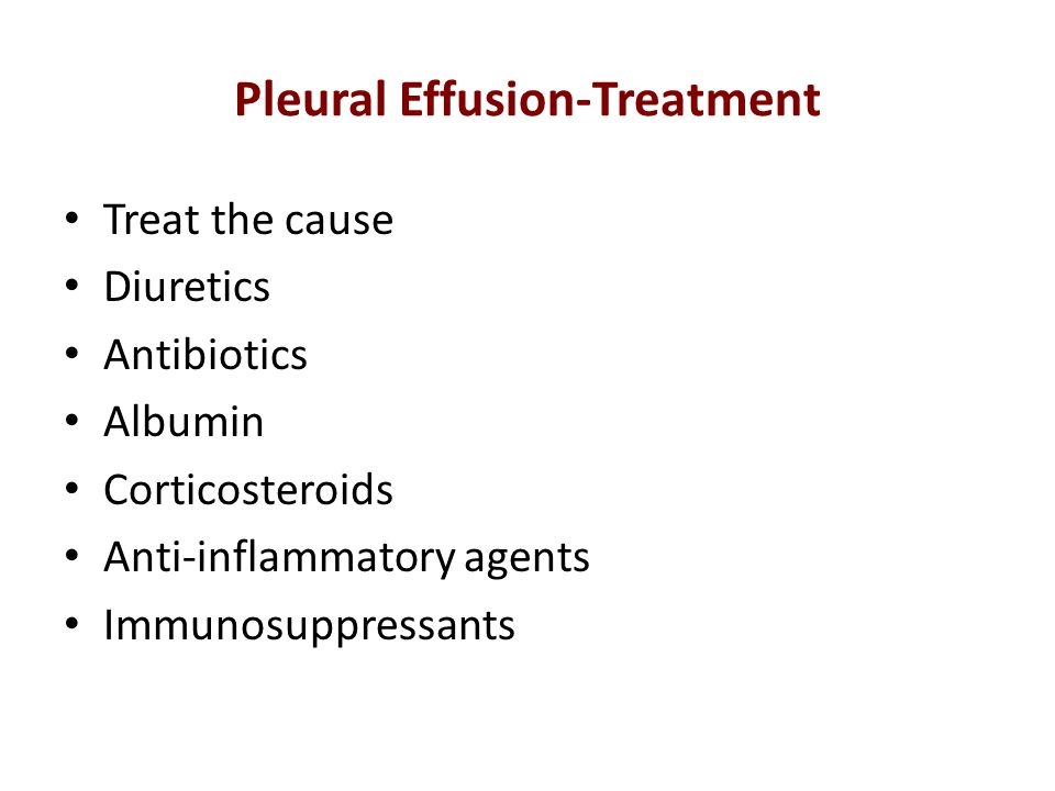 Pleural Effusion-Treatment
