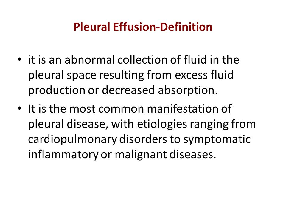 Pleural Effusion-Definition