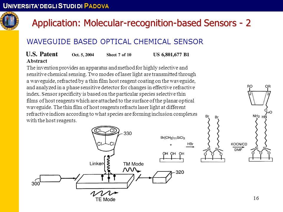 Application: Molecular-recognition-based Sensors - 2