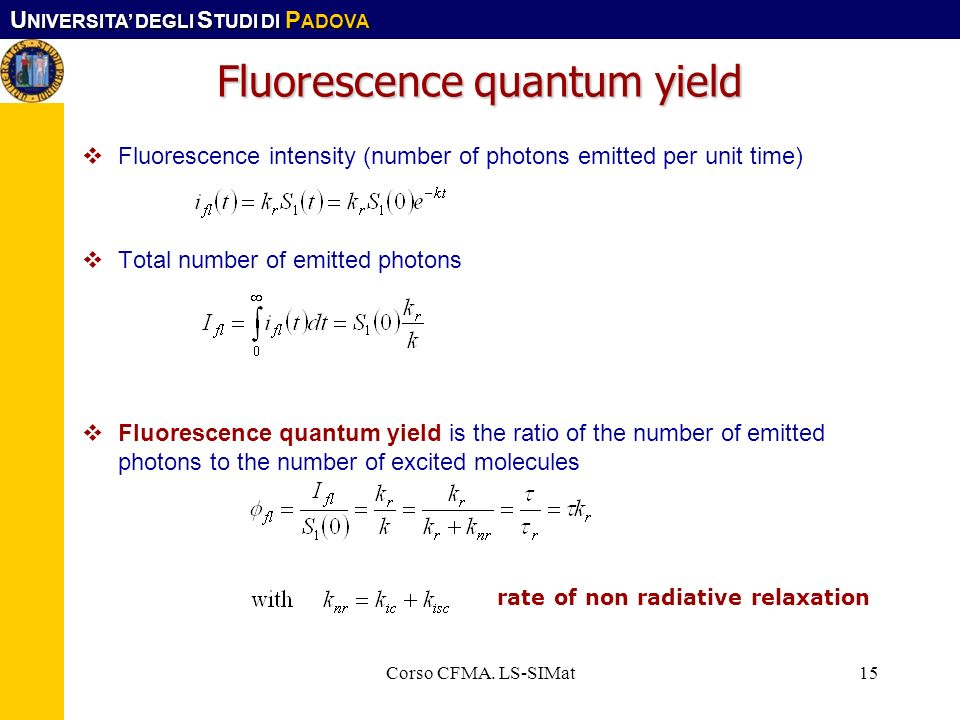 Fluorescence quantum yield