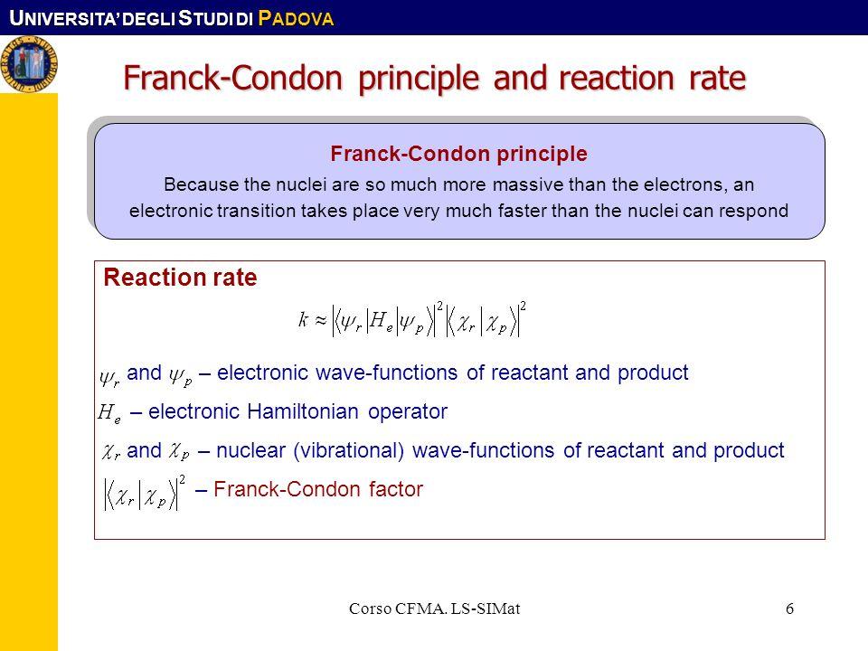 Franck-Condon principle and reaction rate
