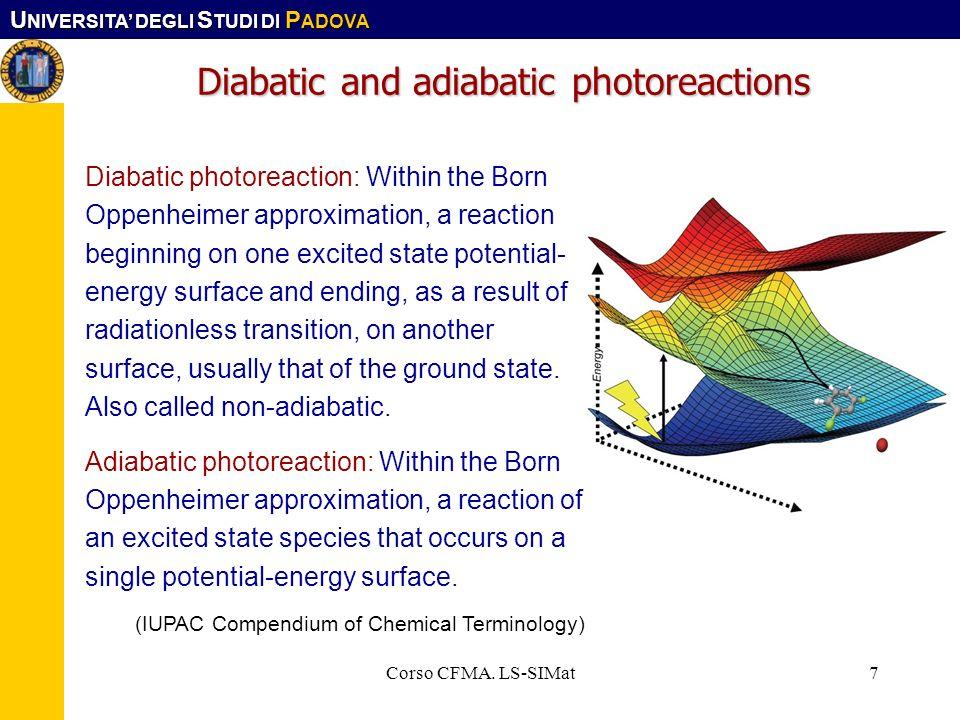 Diabatic and adiabatic photoreactions