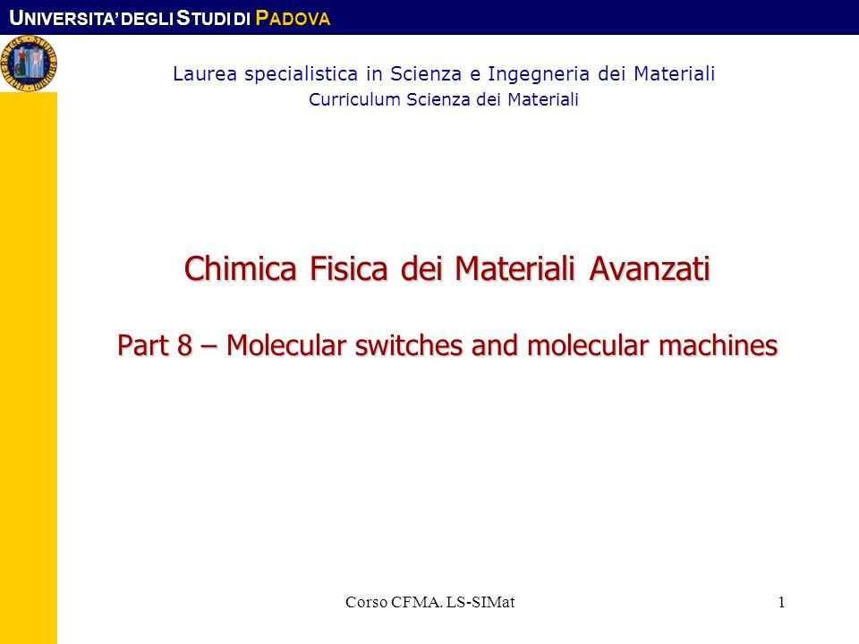 Laurea specialistica in Scienza e Ingegneria dei Materiali