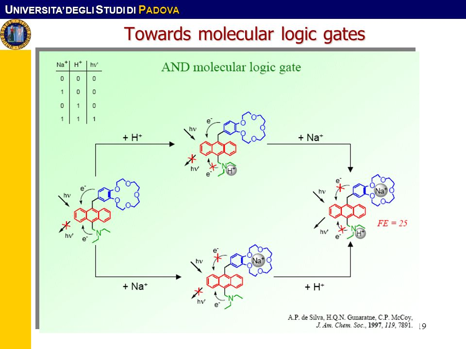Towards molecular logic gates