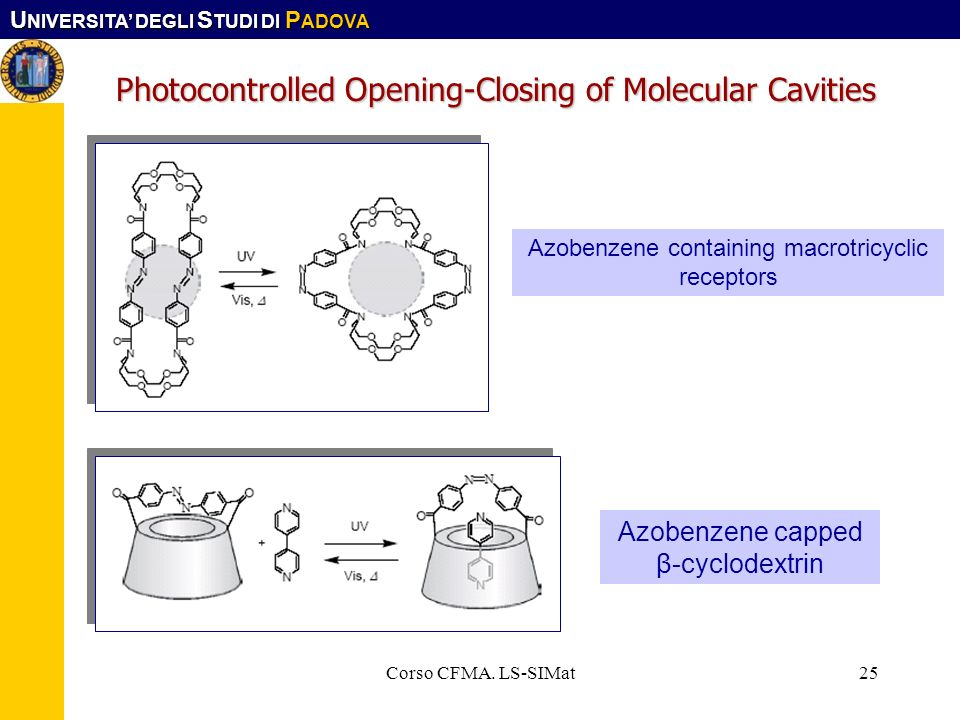 Photocontrolled Opening-Closing of Molecular Cavities