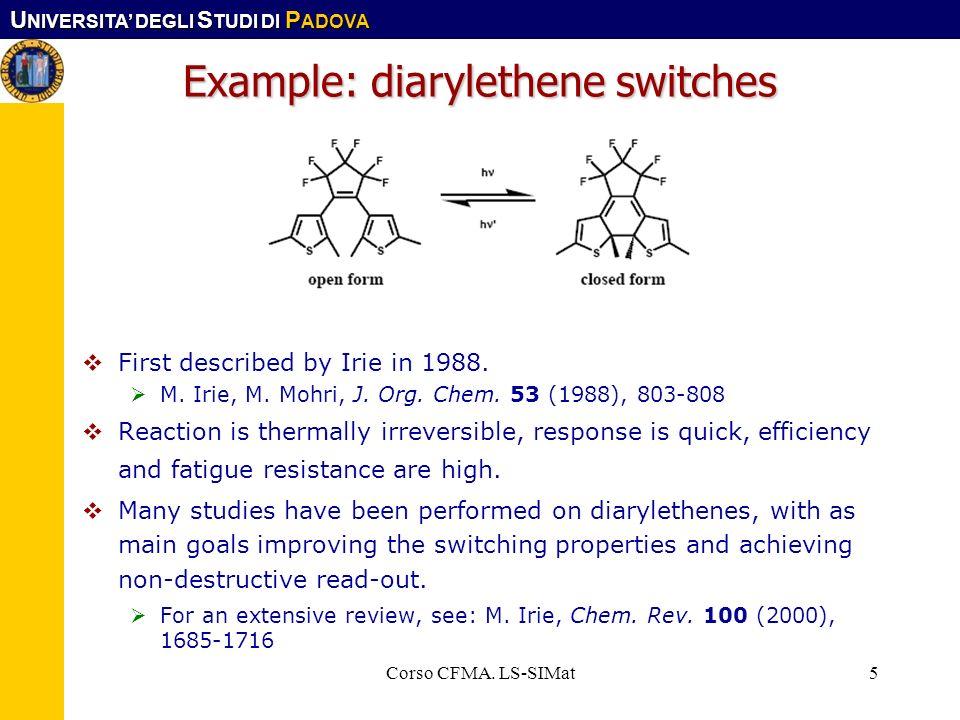 Example: diarylethene switches