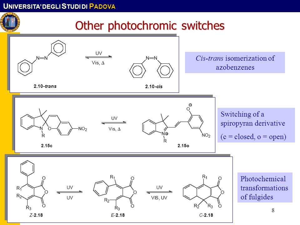 Other photochromic switches
