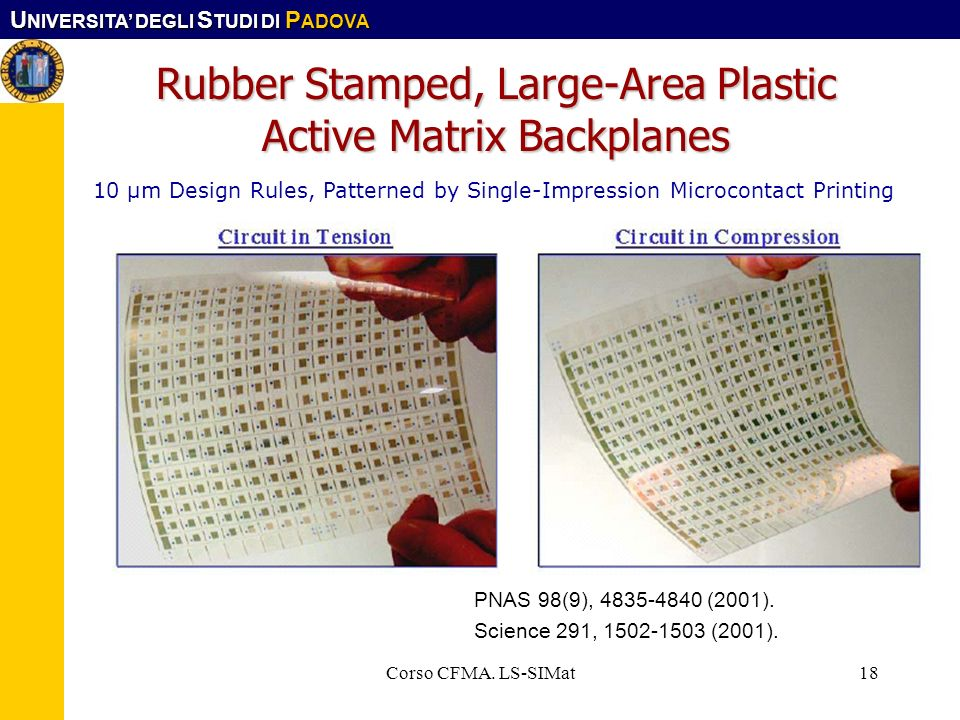 Rubber Stamped, Large-Area Plastic Active Matrix Backplanes