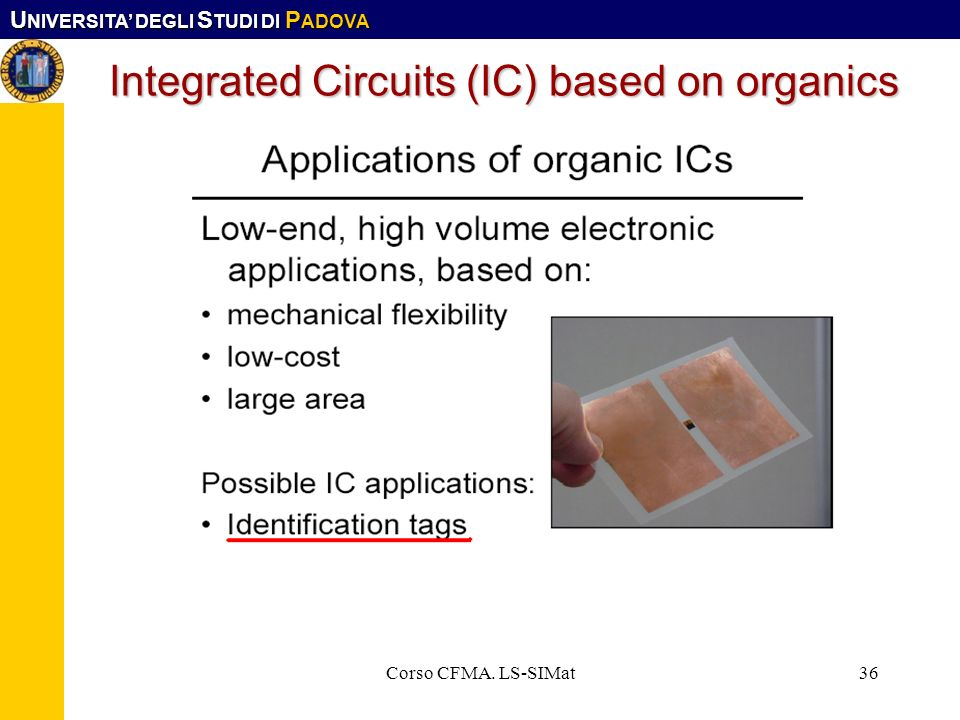 Integrated Circuits (IC) based on organics
