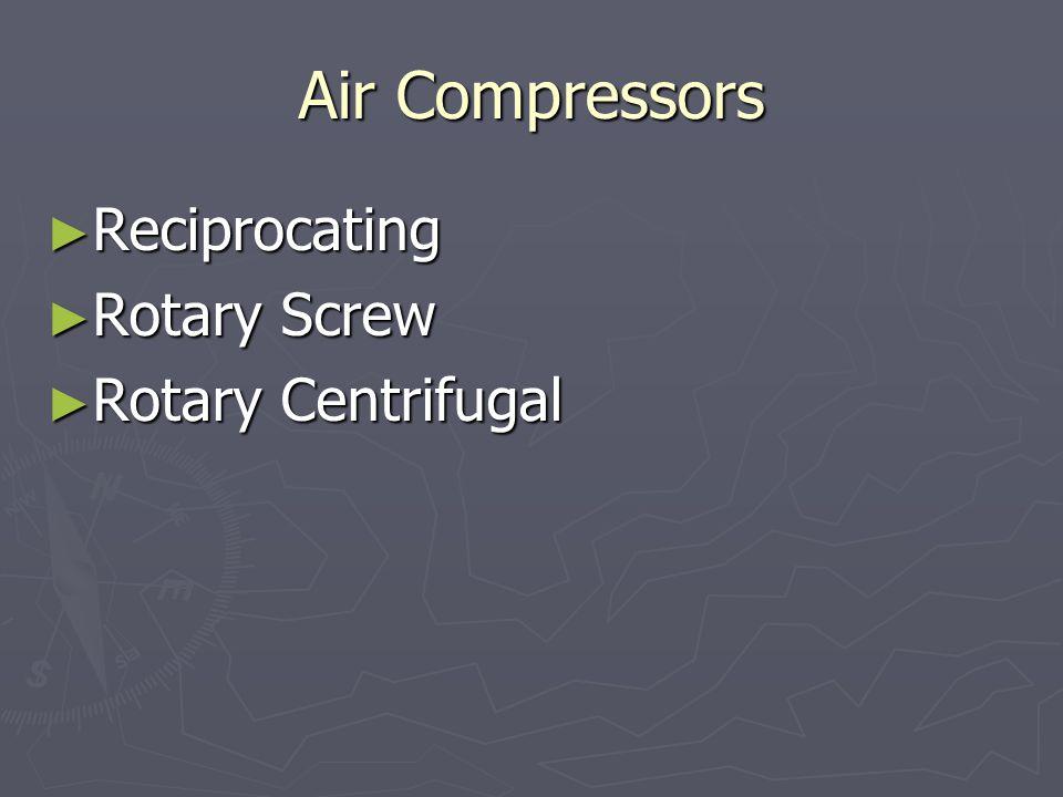 Air Compressors Reciprocating Rotary Screw Rotary Centrifugal