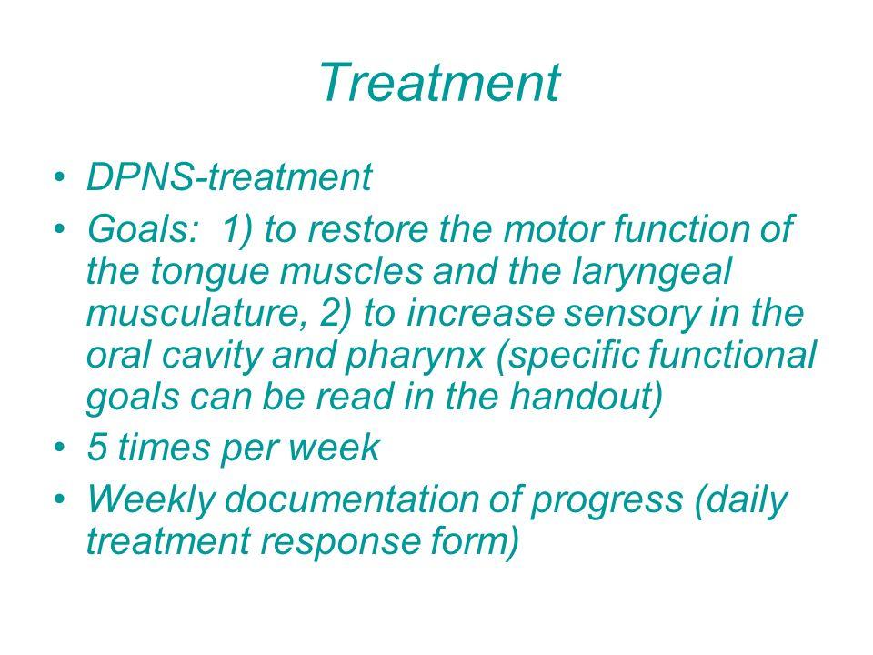 Treatment DPNS-treatment