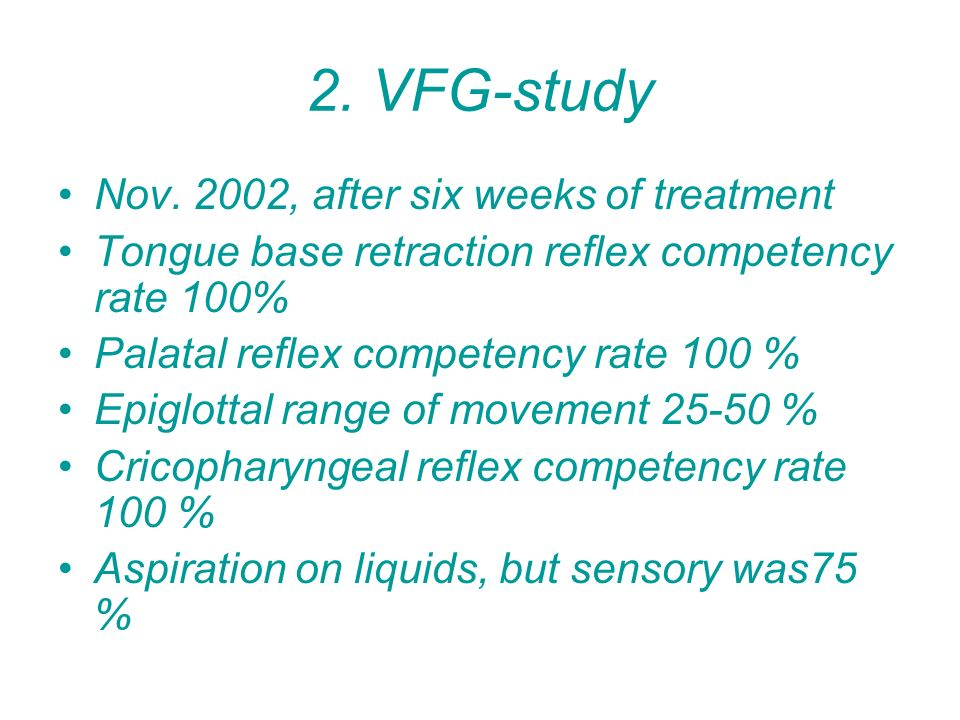 2. VFG-study Nov. 2002, after six weeks of treatment