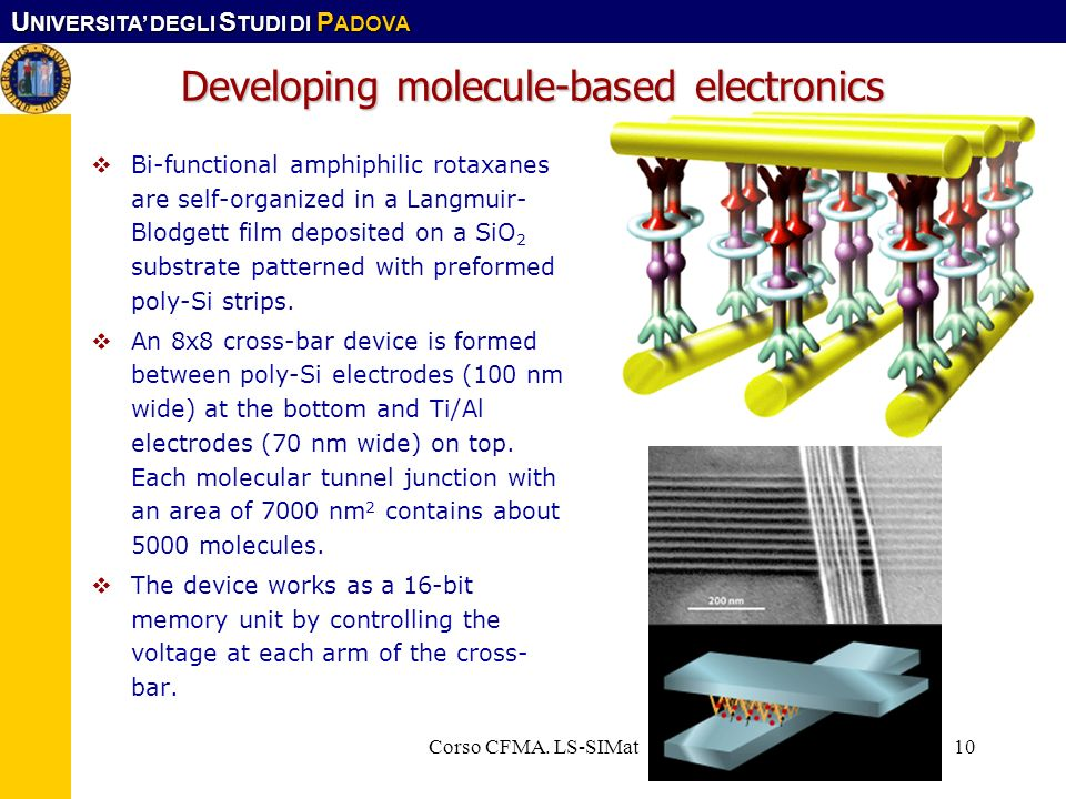 Developing molecule-based electronics