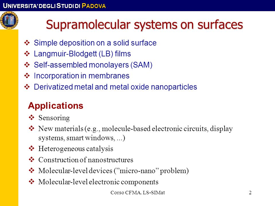 Supramolecular systems on surfaces