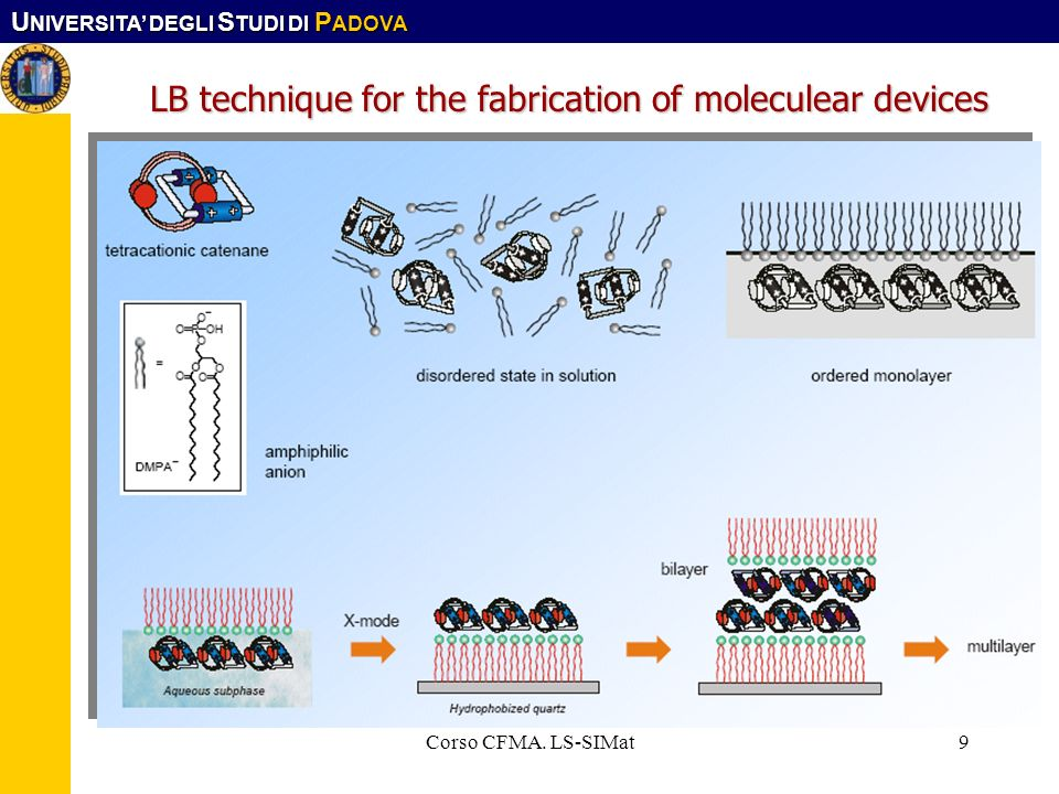 LB technique for the fabrication of moleculear devices